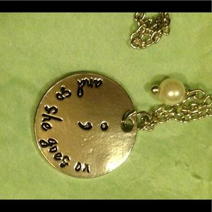 Jewelry - Semicolon Awareness Necklace And So She Goes On